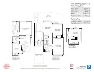"""Photo 39: 56 6600 LUCAS Road in Richmond: Woodwards Townhouse for sale in """"Huntly Wynd"""" : MLS®# R2521385"""