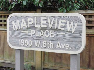 "Photo 2: 108 1990 W 6TH Avenue in Vancouver: Kitsilano Condo for sale in ""MAPLEVIEW PLACE"" (Vancouver West)  : MLS®# V878026"