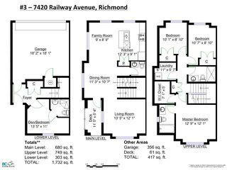 "Photo 19: 3 7140 RAILWAY Avenue in Richmond: Granville Townhouse for sale in ""CORNERSTONE"" : MLS®# V1130629"