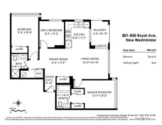 """Photo 20: 801 850 ROYAL Avenue in New Westminster: Downtown NW Condo for sale in """"THE ROYALTON"""" : MLS®# R2304317"""