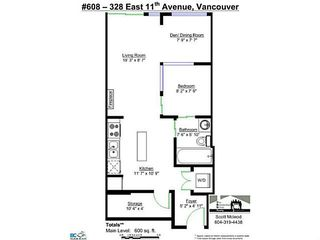 "Photo 16: 608 328 E 11TH Avenue in Vancouver: Mount Pleasant VE Condo for sale in ""UNO"" (Vancouver East)  : MLS®# V1122789"