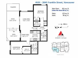 """Photo 17: 101 2045 FRANKLIN Street in Vancouver: Hastings Condo for sale in """"HARBOUR MOUNT"""" (Vancouver East)  : MLS®# V1049075"""