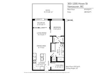 """Photo 20: 303 1205 HOWE Street in Vancouver: Downtown VW Condo for sale in """"Alto"""" (Vancouver West)  : MLS®# R2159218"""