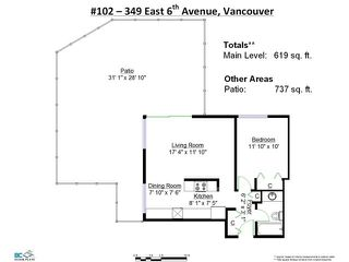 "Photo 20: 102 349 E 6TH Avenue in Vancouver: Mount Pleasant VE Condo for sale in ""Landmark House"" (Vancouver East)  : MLS®# V1135554"