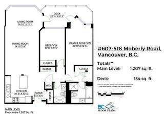 """Photo 20: 607 518 MOBERLY Road in Vancouver: False Creek Condo for sale in """"Newport Quay"""" (Vancouver West)  : MLS®# R2106407"""