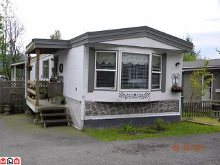 "Main Photo: 77 10221 WILSON Road in Mission: Mission BC Manufactured Home for sale in ""Triple Creek Estates"" : MLS®# F1113687"