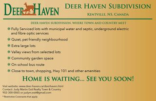 Photo 2: Lot 38 Deer Haven Drive in Kentville: 404-Kings County Vacant Land for sale (Annapolis Valley)  : MLS®# 201722583