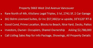 Photo 4: 3663 W 2ND Avenue in Vancouver: Kitsilano House for sale (Vancouver West)  : MLS®# R2253139