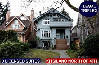 Photo 1: 3663 W 2ND Avenue in Vancouver: Kitsilano House for sale (Vancouver West)  : MLS®# R2253139