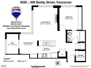 "Photo 13: 206 989 BEATTY Street in Vancouver: Yaletown Condo for sale in ""The Nova"" (Vancouver West)  : MLS®# V1064585"