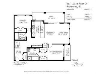 Photo 20: 611 10033 RIVER DRIVE in Richmond: Bridgeport RI Condo for sale : MLS®# R2246811