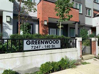 "Main Photo: 24 7247 140 Street in Surrey: East Newton Townhouse for sale in ""GREENWOOD TOWNHOMES"" : MLS®# R2407590"