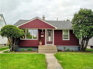 Photo 1: 415 Tinniswood Street in Winnipeg: Sinclair Park Residential for sale (4C)  : MLS®# 1713557