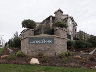 """Photo 1: 410 21009 56 Avenue in Langley: Salmon River Condo for sale in """"CORNERSTONE"""" : MLS®# R2247228"""