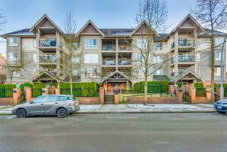 "Photo 1: 103 1576 GRANT Avenue in Port Coquitlam: Birchland Manor Condo for sale in ""THE BROWNSTONE"" : MLS®# R2322412"