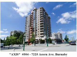 """Photo 1: 504 7225 ACORN Avenue in Burnaby: Highgate Condo for sale in """"AXIS"""" (Burnaby South)  : MLS®# V1071160"""