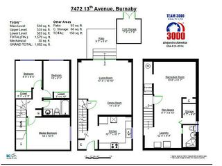 """Photo 12: 7472 13TH Avenue in Burnaby: Edmonds BE Townhouse for sale in """"THE POPLARS"""" (Burnaby East)  : MLS®# V1101986"""