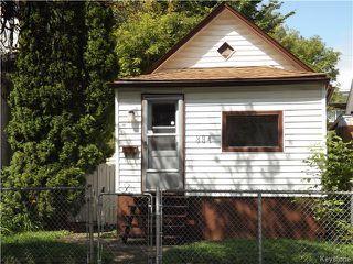 Main Photo: 394 Powers Street in WINNIPEG: North End Residential for sale (North West Winnipeg)  : MLS®# 1528147