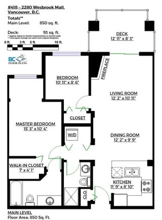 """Photo 20: 418 2280 WESBROOK Mall in Vancouver: University VW Condo for sale in """"Keats Hall"""" (Vancouver West)  : MLS®# R2131319"""