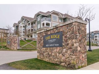 """Photo 1: 205 16398 64 Avenue in Surrey: Cloverdale BC Condo for sale in """"THE RIDGE AT BOSE FARMS"""" (Cloverdale)  : MLS®# R2339810"""