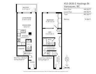 "Photo 20: 412 2636 E HASTINGS Street in Vancouver: Renfrew VE Condo for sale in ""SUGAR"" (Vancouver East)  : MLS®# R2220500"