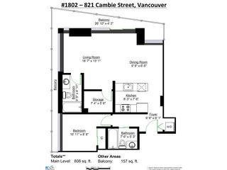 """Photo 19: 1802 821 CAMBIE Street in Vancouver: Downtown VW Condo for sale in """"RAFFLES ON ROBSON"""" (Vancouver West)  : MLS®# V1124858"""