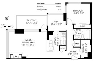 """Photo 20: 606 1199 MARINASIDE Crescent in Vancouver: Yaletown Condo for sale in """"AQUARIUS I"""" (Vancouver West)  : MLS®# R2379533"""