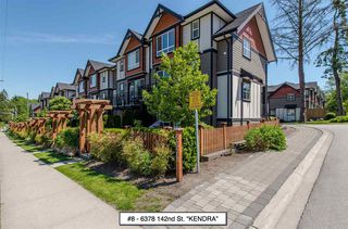 "Photo 1: 8 6378 142 Street in Surrey: Sullivan Station Townhouse for sale in ""Kendra"" : MLS®# R2193744"