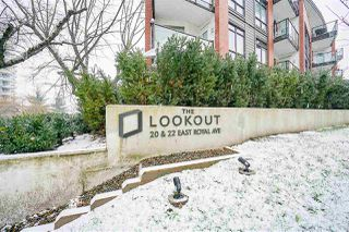 "Photo 1: 109 20 E ROYAL Avenue in New Westminster: Fraserview NW Condo for sale in ""The Lookout"" : MLS®# R2229386"