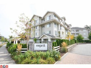 "Photo 1: 301 19320 65TH Avenue in Surrey: Clayton Condo for sale in ""Esprit"" (Cloverdale)  : MLS®# F1123058"