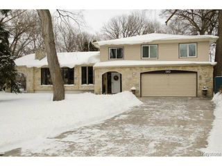 Photo 1: 103 Shier Drive in WINNIPEG: Charleswood Residential for sale (South Winnipeg)  : MLS®# 1326228