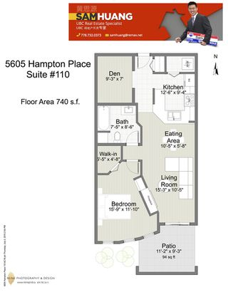 "Photo 14: 110 5605 HAMPTON Place in Vancouver: University VW Condo for sale in ""PEMBERLY"" (Vancouver West)  : MLS®# R2018785"