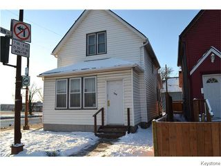 Photo 1: 1314 Arlington Street in Winnipeg: North End Residential for sale (North West Winnipeg)  : MLS®# 1604145