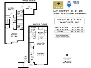 Photo 3: 16 628 6TH Ave W in Vancouver West: Home for sale : MLS®# V1009049