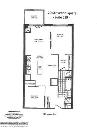 Photo 19: 20 Scrivener Sq Unit #619 in Toronto: Rosedale-Moore Park Condo for sale (Toronto C09)  : MLS®# C3817983