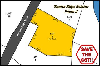 Main Photo: Lot 2 Recline Ridge Road in Tappen: Land Only for sale : MLS®# 10200573