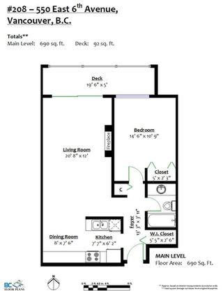 Photo 20: 208 550 E 6TH Avenue in Vancouver: Mount Pleasant VE Condo for sale (Vancouver East)  : MLS®# R2315137