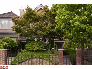 "Main Photo: 15431 RUSSELL Avenue: White Rock Townhouse for sale in ""Courtyards"" (South Surrey White Rock)  : MLS®# F1120397"