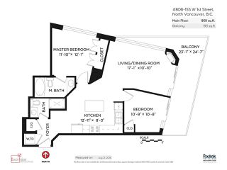"""Photo 16: 808 155 W 1ST Street in North Vancouver: Lower Lonsdale Condo for sale in """"TIME"""" : MLS®# R2094578"""