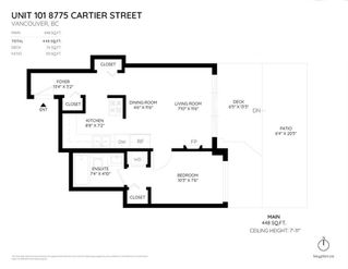 Photo 2: 101 8775 CARTIER Street in Vancouver: Marpole Condo for sale (Vancouver West)  : MLS®# R2319819
