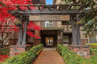 "Photo 1: 402 808 SANGSTER Place in New Westminster: The Heights NW Condo for sale in ""THE BROCKTON"" : MLS®# R2517953"
