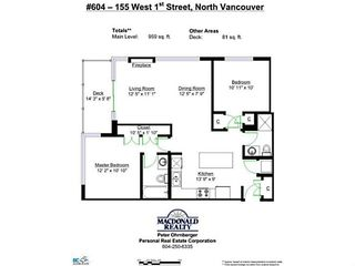 "Photo 14: 604 155 W 1ST Street in North Vancouver: Lower Lonsdale Condo for sale in ""Time"" : MLS®# V1050173"