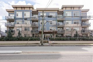 "Photo 1: 211 19936 56 Avenue in Langley: Langley City Condo for sale in ""BEARING POINTE"" : MLS®# R2143683"
