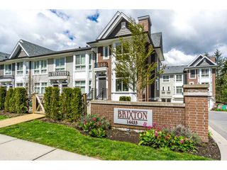 "Photo 1: 1 14433 60 Avenue in Surrey: Sullivan Station Townhouse for sale in ""Brixton"" : MLS®# R2158472"