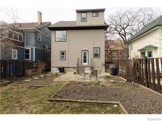 Photo 20: 221 Walnut Street in Winnipeg: West End / Wolseley Residential for sale (West Winnipeg)  : MLS®# 1609946