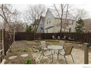 Photo 19: 221 Walnut Street in Winnipeg: West End / Wolseley Residential for sale (West Winnipeg)  : MLS®# 1609946