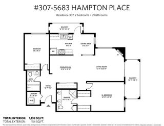 """Photo 20: 307 5683 HAMPTON Place in Vancouver: University VW Condo for sale in """"WYNDHAM HALL"""" (Vancouver West)  : MLS®# R2318427"""