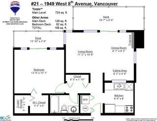 """Photo 20: 21 1949 W 8TH Avenue in Vancouver: Kitsilano Condo for sale in """"Villa Pacifica"""" (Vancouver West)  : MLS®# R2034779"""