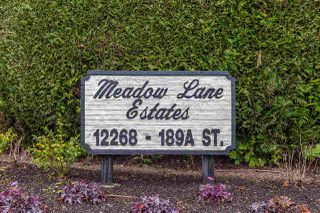 """Photo 20: 25 12268 189A Street in Pitt Meadows: Central Meadows Townhouse for sale in """"MEADOW LANE ESTATES"""" : MLS®# R2355712"""