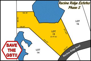Main Photo: Lot 15 Recline Ridge Road in Tappen: Land Only for sale : MLS®# 10200570